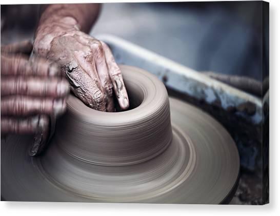 Pottery Wheel Canvas Print