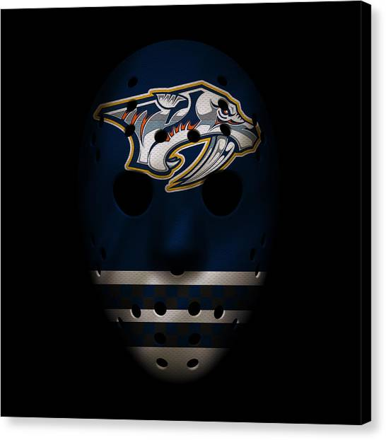Nashville Predators Canvas Print - Predators Jersey Mask by Joe Hamilton