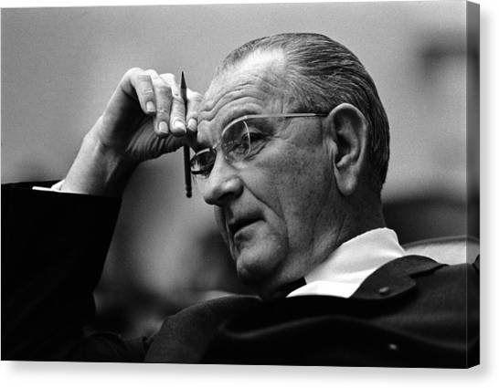 Democratic Presidents Canvas Print - President Lyndon Johnson by War Is Hell Store