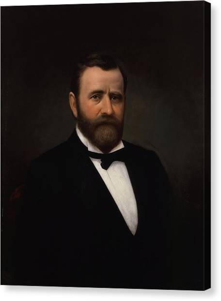 U. S. Presidents Canvas Print - President Ulysses Grant Painting by War Is Hell Store