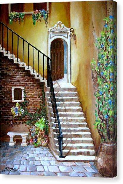 Princess Courtyard Canvas Print