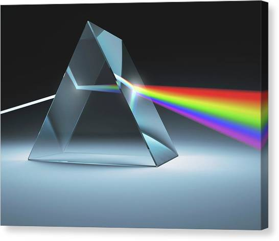 Canvas Print - Prism And Rainbow by Ktsdesign