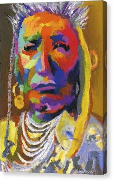 Proud Native American II Canvas Print