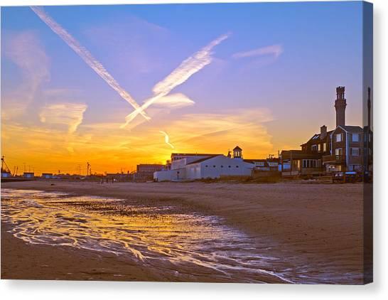 Provincetown Beach At Sunset Canvas Print