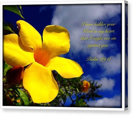 Psalm 119 11 Canvas Print