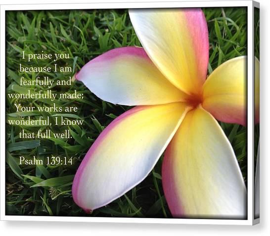 Psalm 139 14 Canvas Print