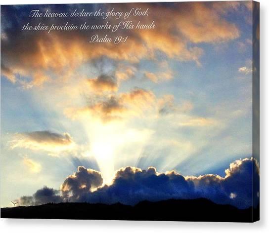 Psalm 19 1 Canvas Print