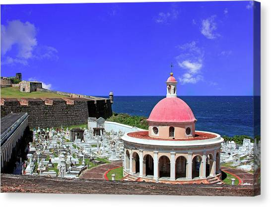 Spanish Fort Canvas Print - Puerto Rico, San Juan, Fort San Felipe by Miva Stock