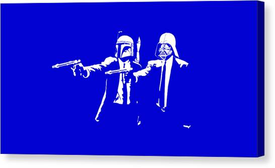 Pulp Fiction Canvas Print - Pulp Wars  by Patrick Charbonneau