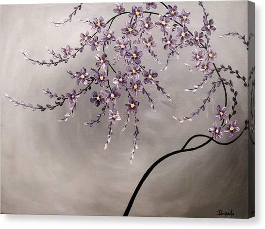 Purple Blossoms  Canvas Print by Tomoko Koyama