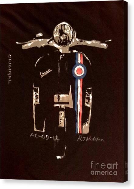 Quadrophenia - Vespa Canvas Print by Richard John Holden RA