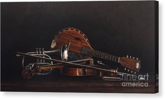 Mandolins Canvas Print - Quartet by Lawrence Preston
