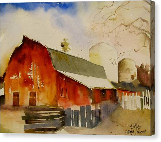 Quiet Red Barn Canvas Print