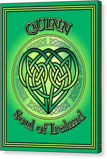 Quinn Soul Of Ireland Canvas Print
