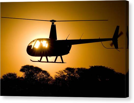 Canvas Print featuring the photograph R44 Sunset by Paul Job