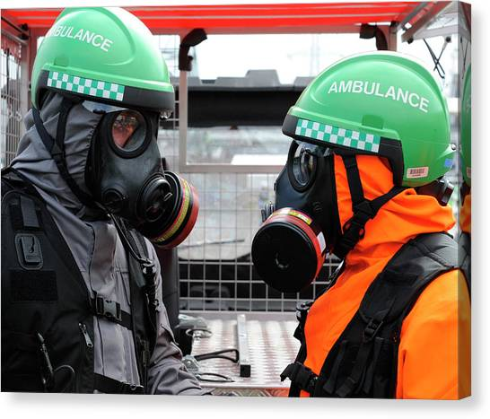 Hard Hat Canvas Print - Radiation Emergency Response Workers by Public Health England