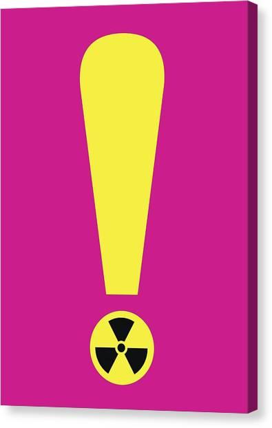 Half Life Canvas Print - Radiation Warning, Conceptual Artwork by Science Photo Library