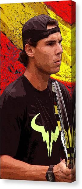 Rafael Nadal Canvas Print - Rafael Nadal by Louise Grant