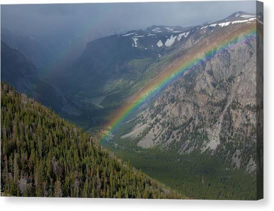 Rainbow At Beartooth Pass Canvas Print