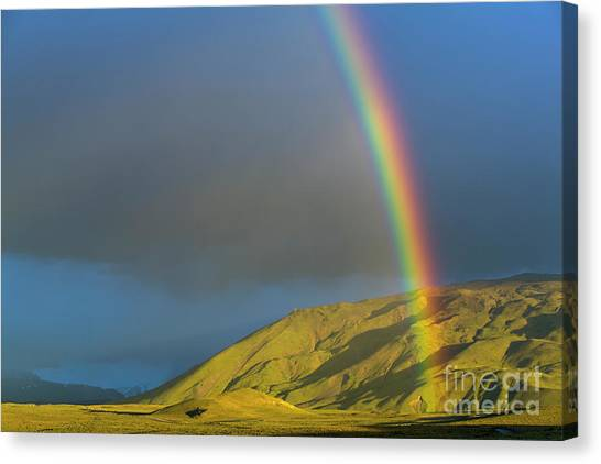 Andes Mountains Canvas Print - Rainbow Los Glaciares National Park by Yva Momatiuk John Eastcott