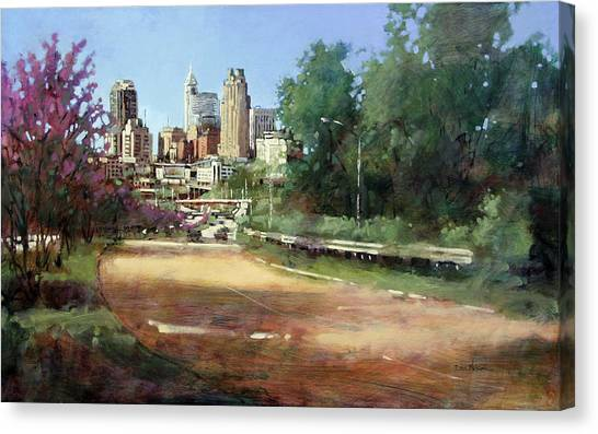 Raleigh Summer Skyline Canvas Print