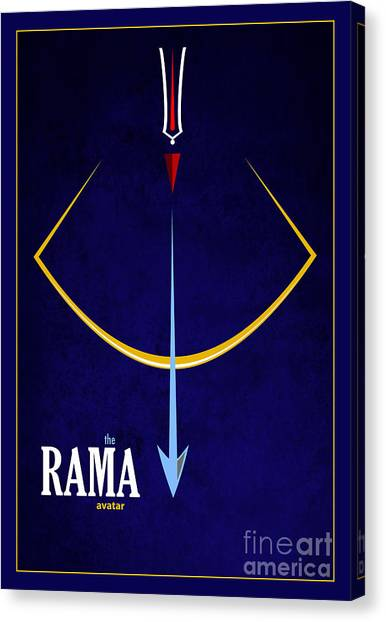 Yogi Canvas Print - Rama The Avatar by Tim Gainey