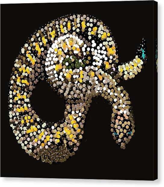Rattlesnake Bedazzled Canvas Print