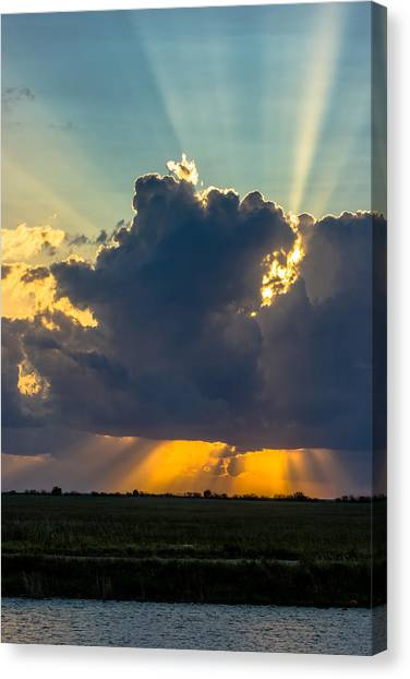 Rays From The Clouds Canvas Print