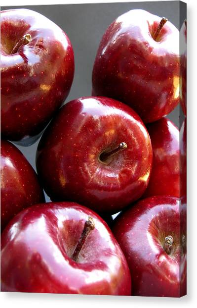 Canvas Print featuring the photograph Red Apples by Helene U Taylor