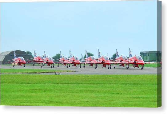 Red Arrows Canvas Print by James Lucas