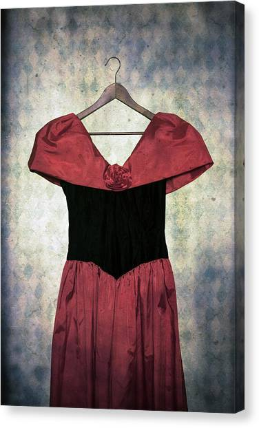 Coat Hanger Canvas Print - Red Dress by Joana Kruse