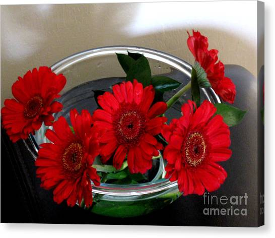 Red Flowers. Special Canvas Print