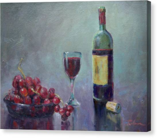 Red - Red Wine Canvas Print by Ron Wilson