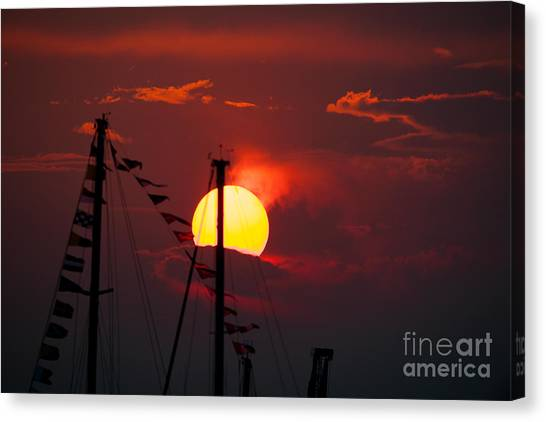 Fire Ball Canvas Print - Red Sky At Night by Dale Powell