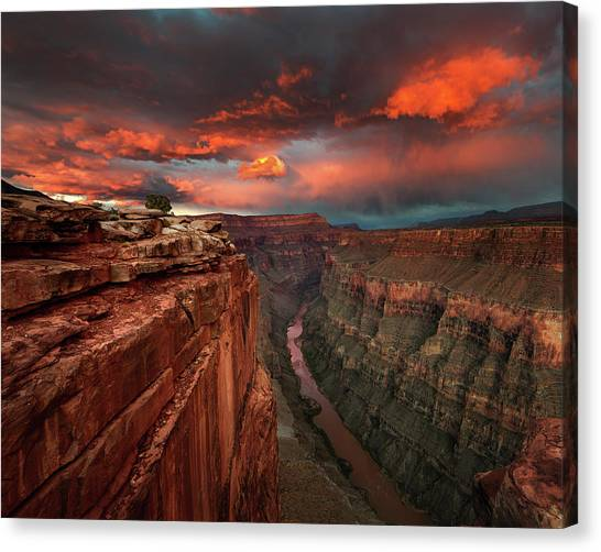 Red Rock Canvas Print - Redemption by Chris Moore
