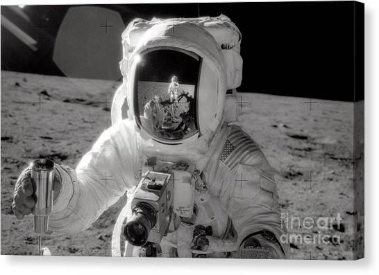 Astronauts Canvas Print - Reflecting by Jon Neidert