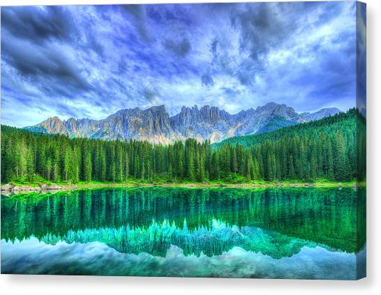 Dolomites Canvas Print - Reflection by Midori Chan