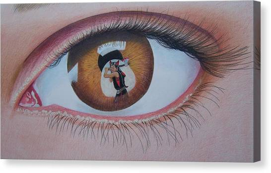 Reflections In A Golden Eye Canvas Print