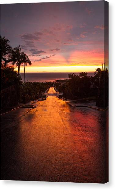 Canvas Print featuring the photograph Sunset After Rain by Denise Bird