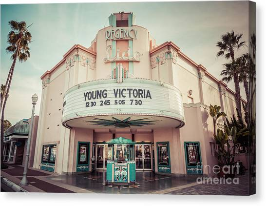 Regency Lido Theater Newport Beach Picture Canvas Print by Paul Velgos