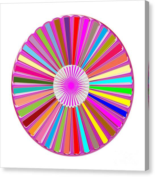Rights Managed Images Canvas Print - Colorful Signature Art Chakra Round Mandala By Navinjoshi At Fineartamerica.com Rare Fineart Images  by Navin Joshi