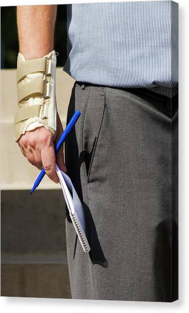 Braces Canvas Print - Repetitive Strain Injury by Jim West
