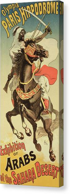 Sahara Desert Canvas Print - Reproduction Of A Poster Advertising An by Jules Cheret