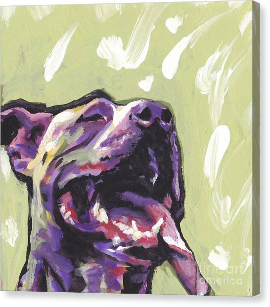 Pit Bull Canvas Print - Rescue Me by Lea S