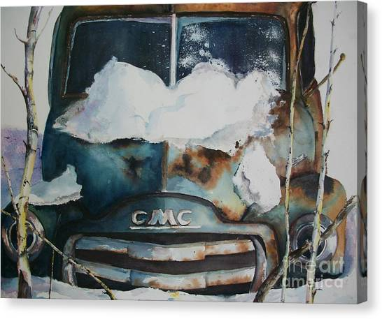 Resting And Rusting Canvas Print