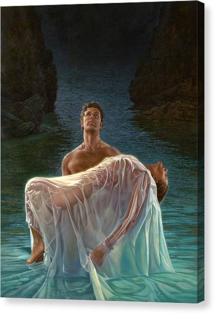 Erotic Canvas Print - Resurrection by Mia Tavonatti