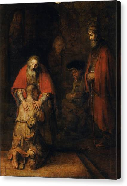 Baroque Art Canvas Print - Return Of The Prodigal Son by Rembrandt van Rijn