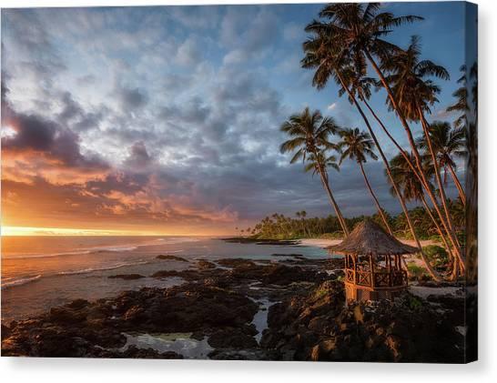 Beach Resort Canvas Print - Return To Paradise by Richard Vandewalle