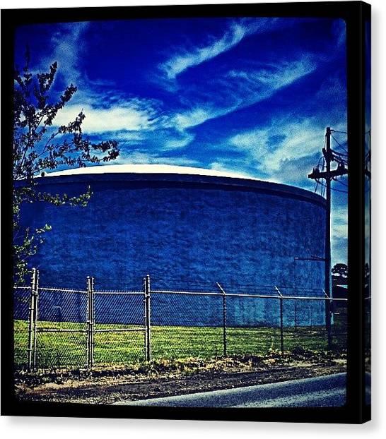 Tanks Canvas Print - Rhapsody In Blue, #nola by Glen Abbott