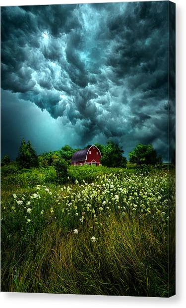 Riding The Storm Out Canvas Print